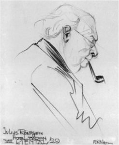 Drawing by Fritz Röntgen, 1929